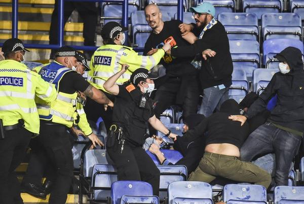 Picture for Europa League: Fans arrested over Leicester City v Napoli violence