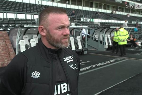 Picture for Wayne Rooney: Derby boss reveals he first heard news of club's administration when watching Sky Sports News