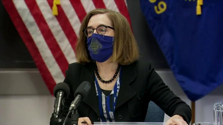 Cover for When will Oregon governor lift statewide mask mandate? 'We continue to trend down'