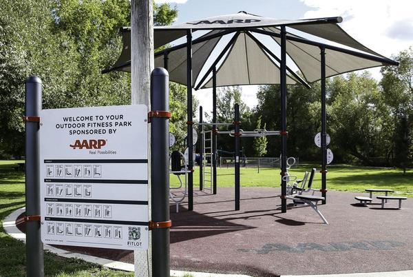Picture for AARP donates new outdoor fitness park to East Helena