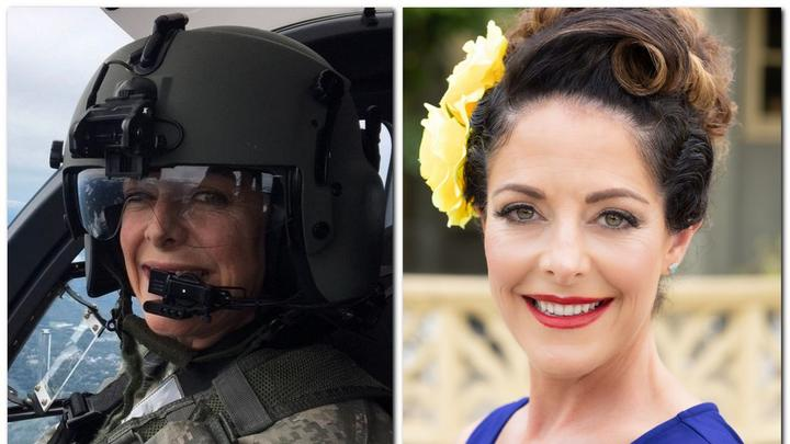 Cover for Former Black Hawk helicopter pilot Jana Tobias of Hampden featured in Pin-Ups For Vets calendar