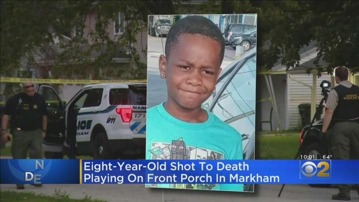 Cover for 8-Year-Old Boy Shot, Killed While Playing On Front Porch In Markham