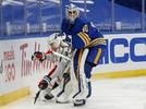 Picture for Sabres goalies Carter Hutton, Dustin Tokarski, UPL done for the season