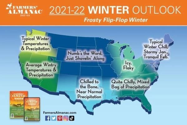 Picture for Get Ready To Bundle Up, The Farmers Almanac is Predicting Below-Average Temperatures This Winter In Oklahoma
