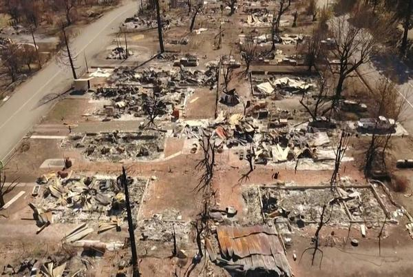Picture for California fires leave a ghost town