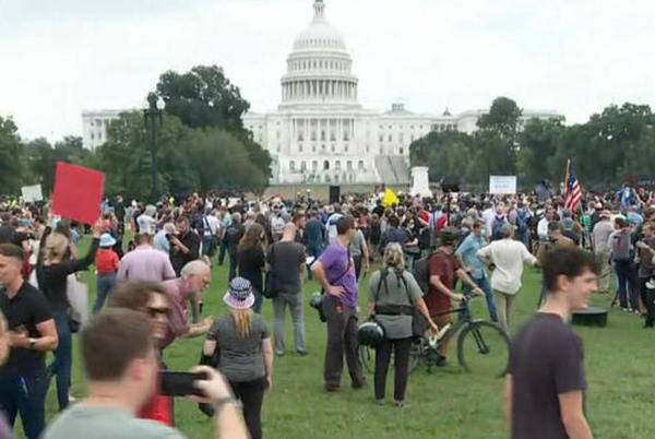 """Picture for """"Justice for J6"""" rally in D.C. concludes amid heavy police presence"""