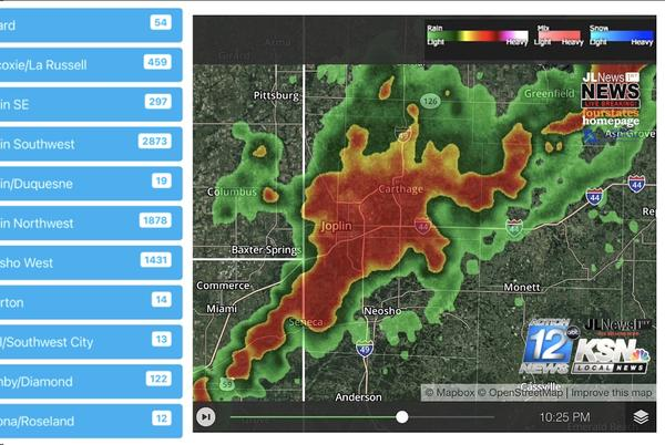 Picture for Storm knocks out power to more than 8,000 in Joplin area