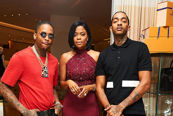 """Picture for Nipsey Hussle's Shop Shows Love To Karen Civil: """"Always Been A Phone Call Away"""""""
