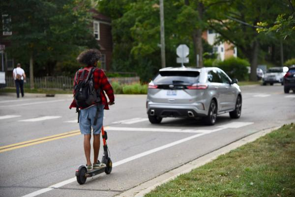 Picture for Debate over e-scooters on Ann Arbor sidewalks ends in 8-3 vote on new law