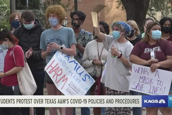 Picture for Students protest Texas A&M COVID-19 policies, say they won't stop until changes are made
