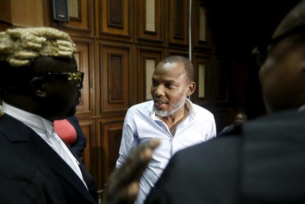 Picture for Nigerian separatist leader Kanu denies terrorism charges in court hearing
