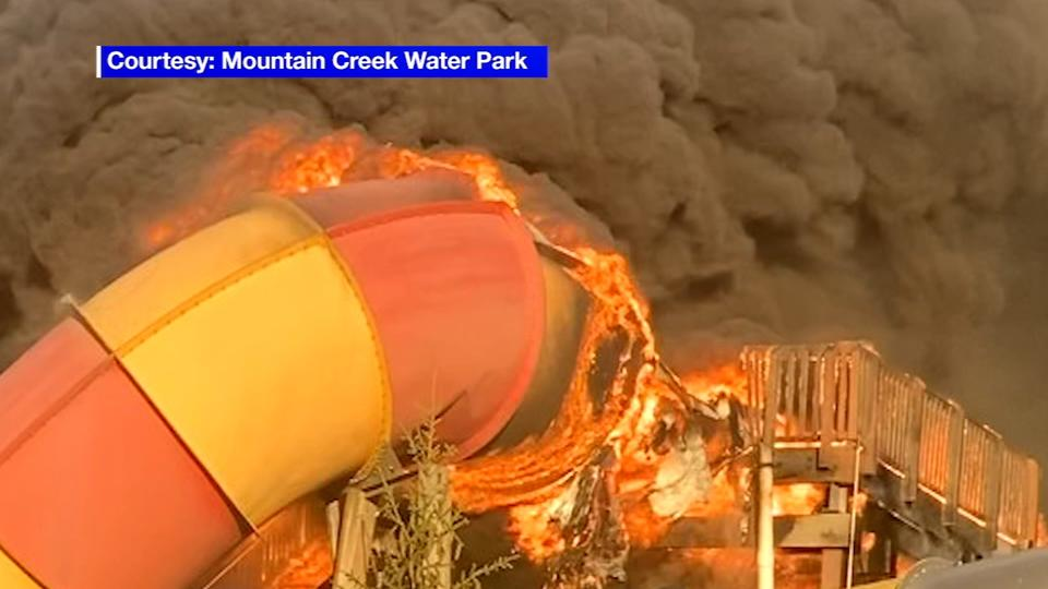 Picture for Giant waterslide goes up in flames at Mount Creek Water Park in New Jersey