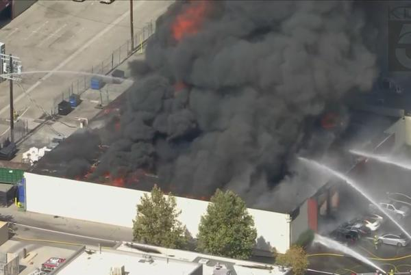 Picture for Fire crews knock down blaze that injured 3 at possible marijuana grow operation in Canoga Park