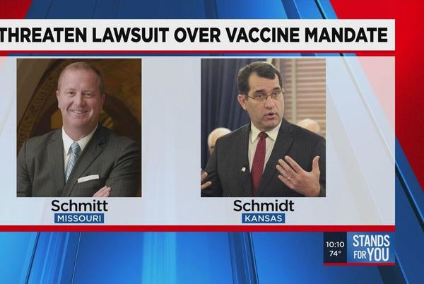 Picture for Kansas, Missouri AGs say legal action will be taken if vaccine mandate policy moves forward