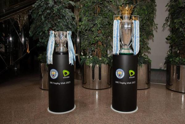 Picture for Man City's Premier League and Carabao Cup trophies to go on display at Expo 2020 Dubai