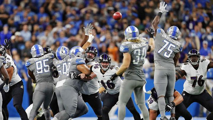 Cover for What's being said nationally after Detroit Lions lose at the buzzer on longest kick in league history
