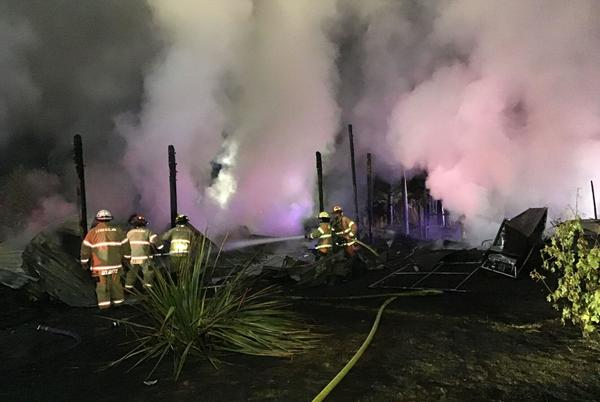 Picture for One injured in early-morning Gearhart blaze