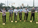Picture for Dowagiac Rotary Club breaks ground on centennial sign