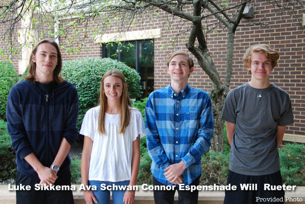 Picture for Connor Espenshade, Will Rueter Ava Schwan, and Luke Sikkema named National Merit Semifinalists