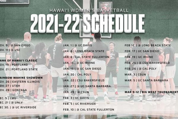 Picture for Rainbow Wahine basketball release 2021-22 schedule