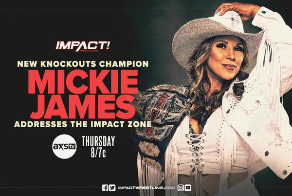 Picture for Mickie James Appearance, Two Matches Added To 10/28 IMPACT Wrestling