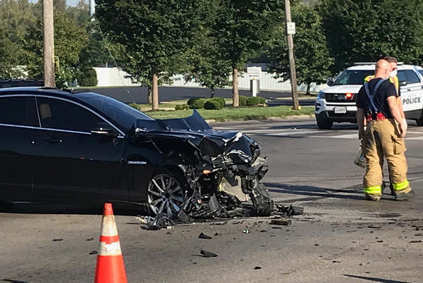 Picture for Crash closes intersection at N. Gettysburg Avenue, James H. McGee Boulevard