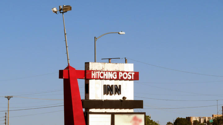 Cover for The Hitching Post Inn is going to be demolished! Here's what it looks like before it does.