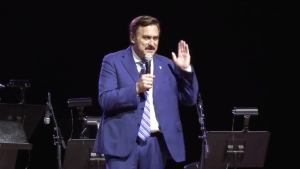 Picture for Mike Lindell's South Dakota rally: Proud Boys, Joe Piscopo and a can't-miss investment