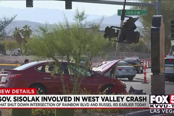 Picture for Gov. Sisolak returns to work following weekend crash in southwest Las Vegas