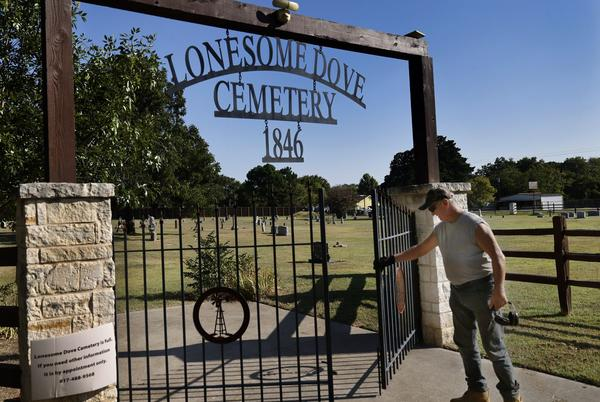 Picture for At historic Lonesome Dove Cemetery, traditions get turned upside down. The old-time board is ousted