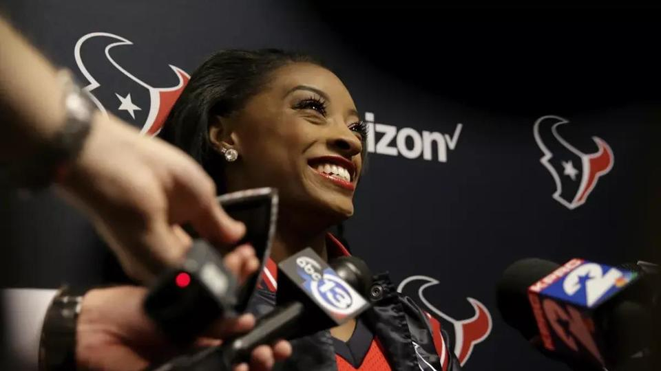 Picture for Olympic Star Simone Biles and Texans DB Jonathan Owens: Houston 'Power' Couple
