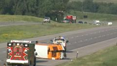 Cover for NSP: Semi trying to pass motorcycle caused I-80 crash that left 1 dead