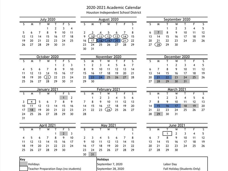 Hisd 2021-2022 Calendar Governor says students will return to classrooms in August, as
