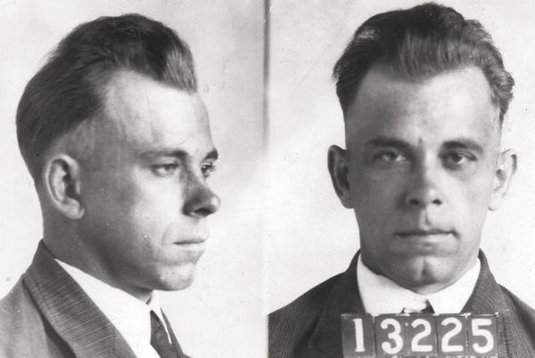 Picture for John Dillinger memorabilia being shopped by Indiana tourism body
