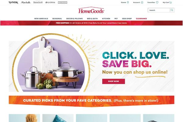 Picture for HomeGoods' new online store launches with decor, bedding, kitchen goods and more