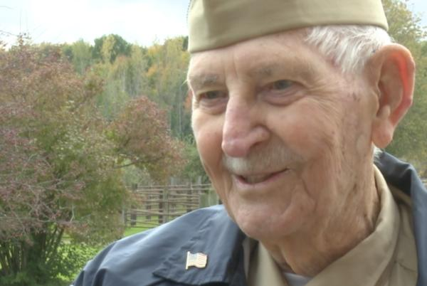 """Picture for """"Never give up""""; WWII veteran finds family of West Michigan man who saved his life after 75 years"""