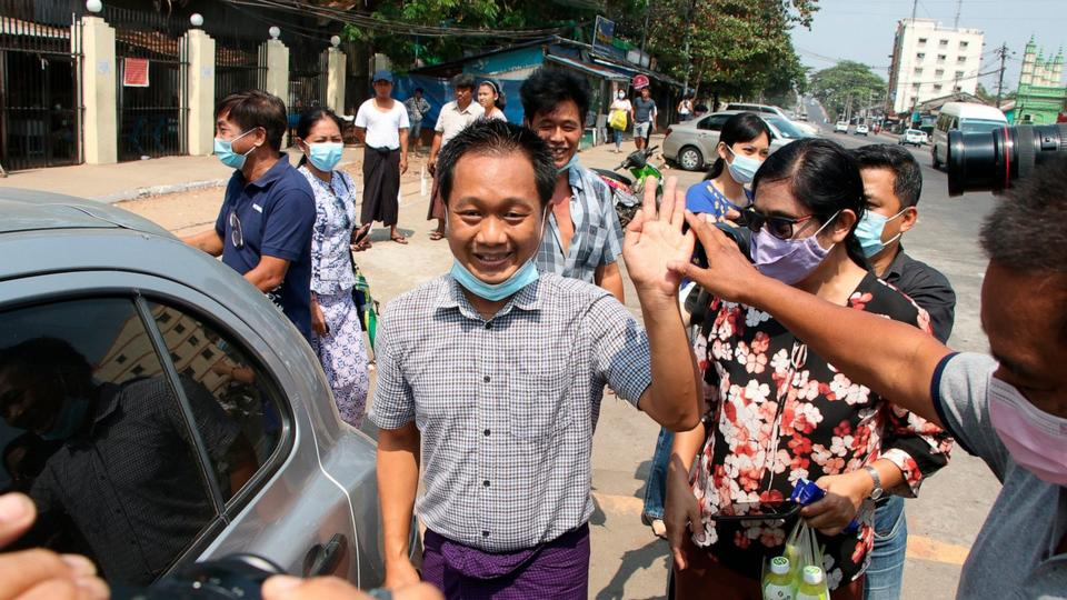 Picture for AP journalist Thein Zaw says he's being released in Myanmar
