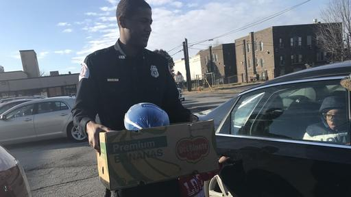 Gary Firefighters Donate Thanksgiving Baskets For Fire Victims News Break