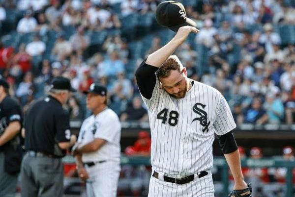Picture for White Sox pitcher Mike Wright suspended three games for plunking Angels' Shohei Ohtani