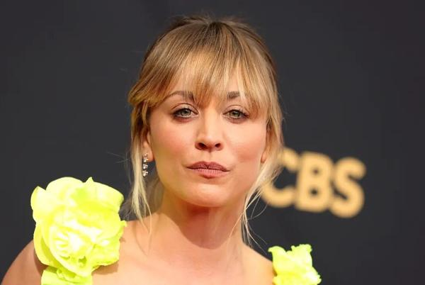 Picture for Kaley Cuoco wows fans in eye-catching neon dress as she makes Emmys 2021 appearance