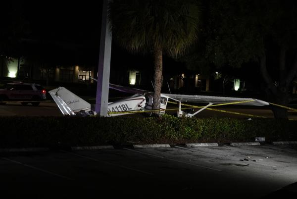 Picture for 2 seriously injured when small plane crashes near Florida shopping center
