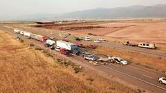 Cover for At least 7 killed in 20-car pileup in Utah during sandstorm