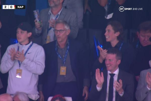 Picture for Gary Lineker cheers Leicester on from stands after legend quit BT Sport to follow beloved club in Europa League