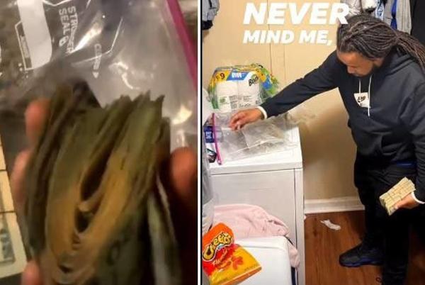 Picture for 'Never mind me.' NC parolee posts videos of himself posing with guns, cash, dope, feds say