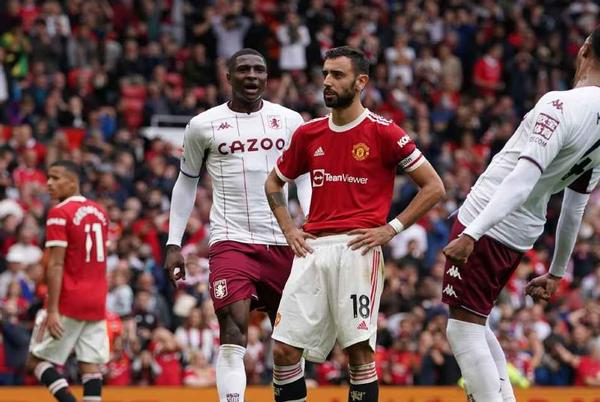 Picture for Man United beaten by Aston Villa at Old Trafford; Bruno Fernandes misses penalty