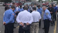 Cover for 'He was a real good guy': Dozens gather to honor fallen Burke County firefighter