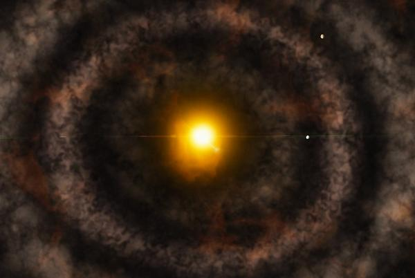 Picture for The early solar system had a gap where the asteroid belt is today