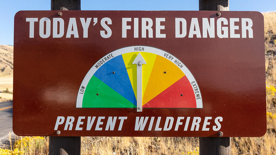 Picture for Yellowstone fire danger increases to high