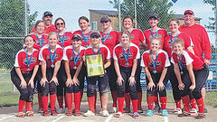 Cover for Albion softball teams win district crowns
