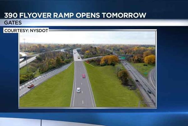 Picture for 390 flyover ramp to open to traffic Friday morning